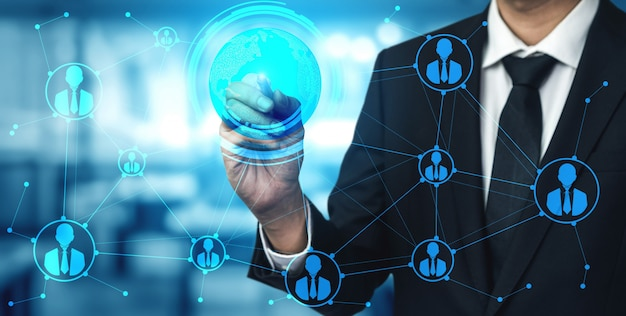 People network und globales kommunikationskonzept