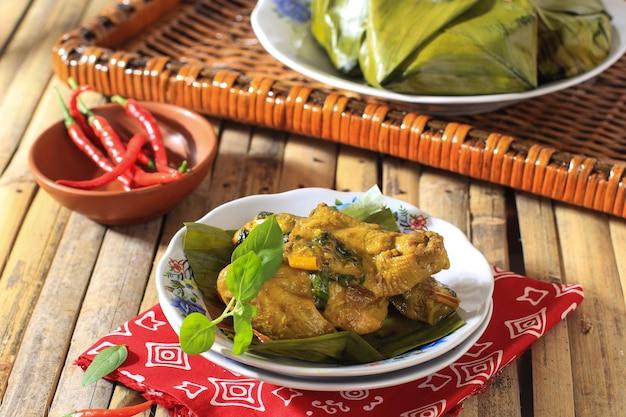 Pepes ayam chicken steam indonesisches rezept