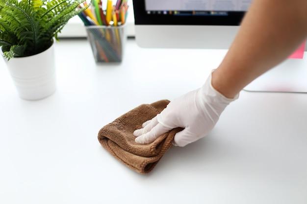 Perfekt sauberer arbeitsplatz