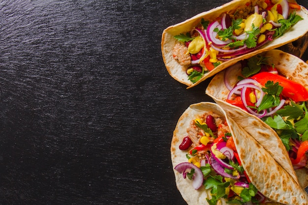 Perfekte mexikanische burritos