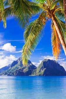 Perfekte tropische strandlandschaft