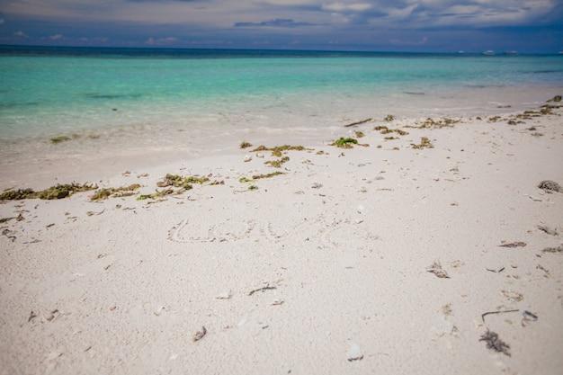 Perfekter tropischer strand mit türkisfarbenem wasser
