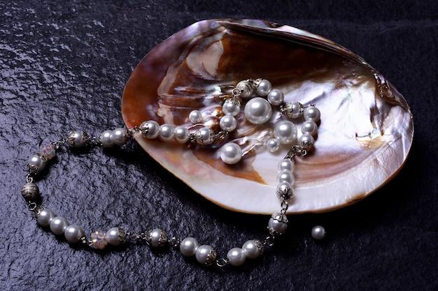 Perlen in einer muschel