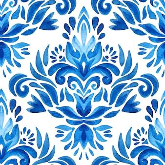 Persischer abstrakter filigraner hintergrund elegante dekorative portugiesische azulejo-fliese