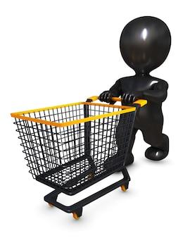 Person einkaufen