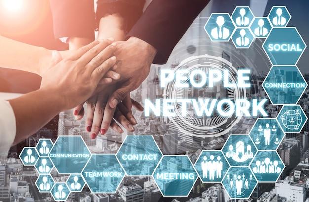 Personalbeschaffung und people networking-konzept.