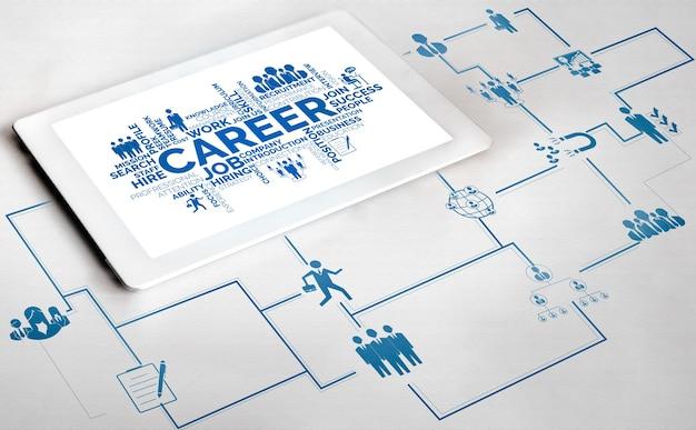 Personalbeschaffung und people networking-konzept