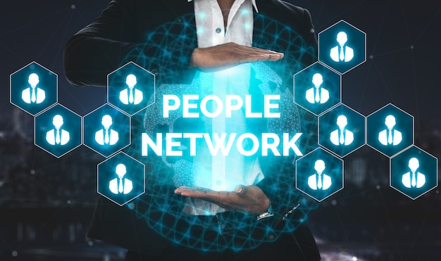 Personalwesen und leute-vernetzungs-konzept