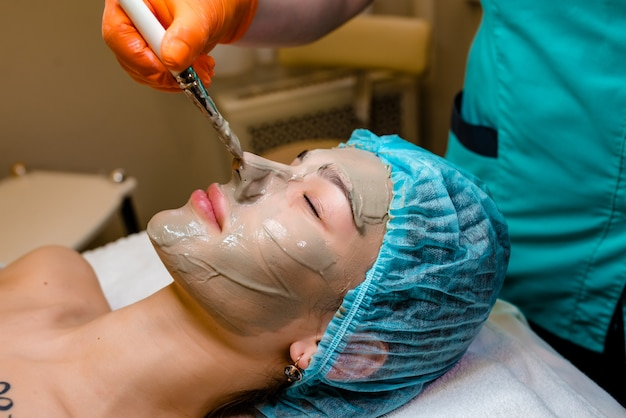 Personen-, schönheits-, wellness-, kosmetik- und hautpflegekonzept