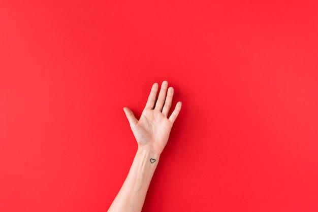Personenhand mit herzsymbol