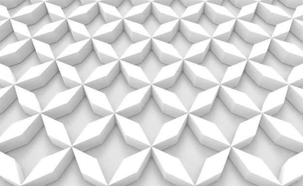 Perspektivansicht des weißen gittergegenstandboden-designhintergrundes.