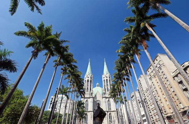 Perspektivische ansicht der kathedrale von sao paulo