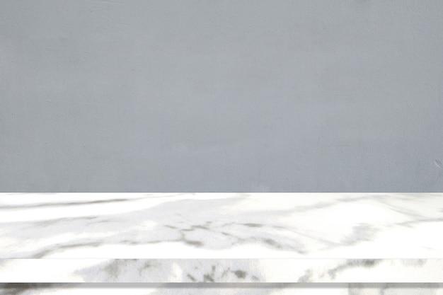 Perspektivischer marmortischoberflächenhintergrund, graue und weiße marmortischplatte für küchenproduktanzeigehintergrund