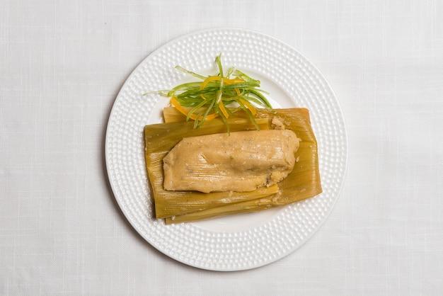 Peruanisches essen, ansicht von oben