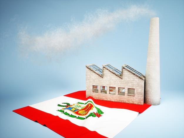 Peruanisches industrieentwicklungskonzept - 3d-renderbild