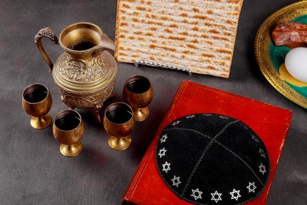 Pesach passah-symbole für einen großen jüdischen feiertag