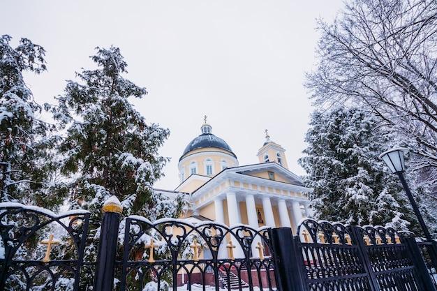 Peter und paul kathedrale in der wintersaison
