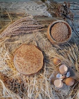 Pfannkuchen aus buchweizenmehl. pfannkuchentag