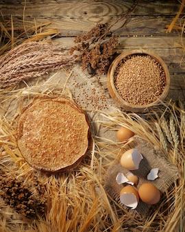 Pfannkuchen aus buchweizenmehl