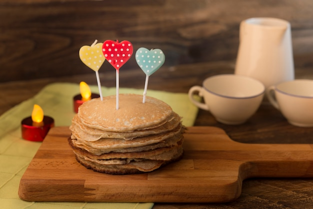 Pfannkuchen für einen besonderen tag