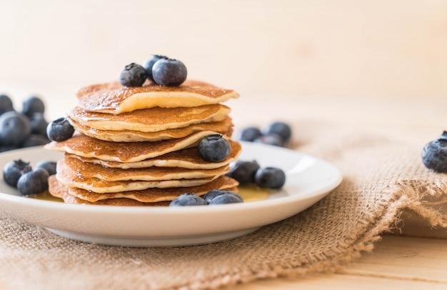 Pfannkuchen mit heidelbeere