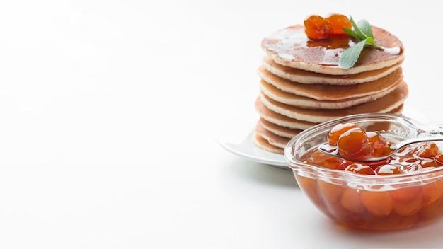 Pfannkuchenrahmen mit kopierraum
