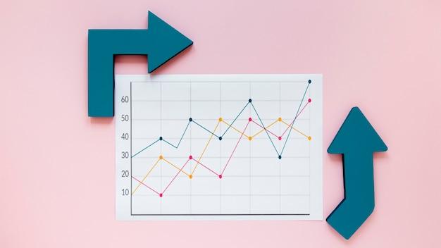Pfeile für wirtschaftstabelle