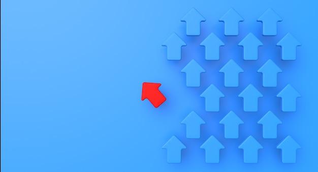 Pfeilgeschäft und erfolgskonzept. abstrakte illustration der leistung. 3d-rendering