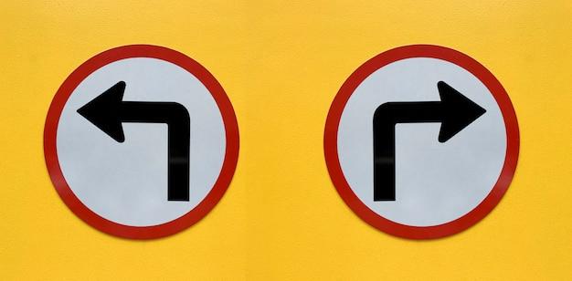 Pfeilzeichen getrennt auf weiß