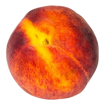 Pfirsich isoliert auf weißem hintergrund mit beschneidungspfad.