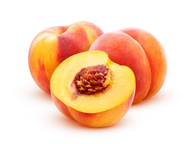 Pfirsich isoliert