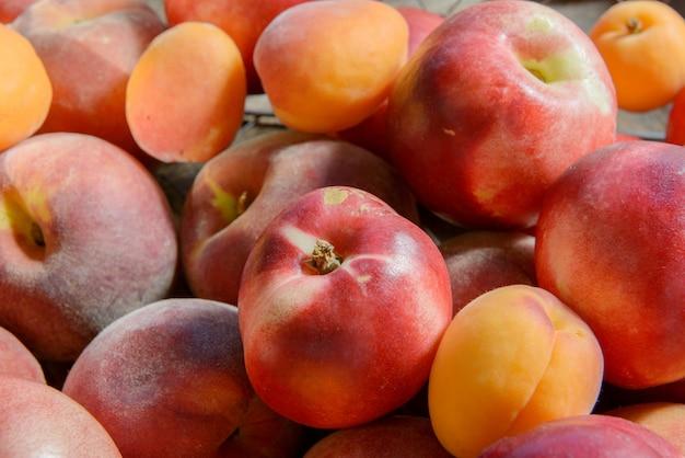 Pfirsiche und aprikosen