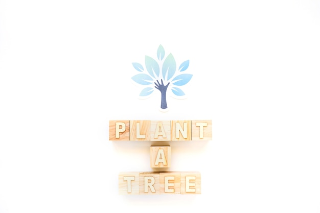 Pflanzen sie einen baum wörter und papierbaum