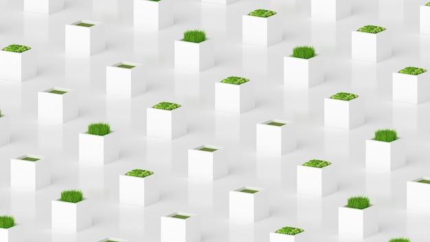 Pflanzengrünes konzept.
