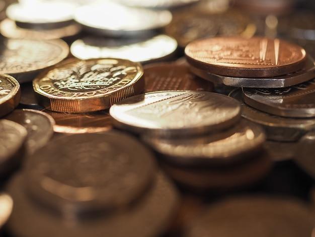 Pfundmünzen, großbritannien hintergrund