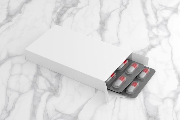 Pharmazeutische verpackung - wiedergabe 3d