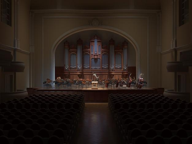 Philarmonie hall orchestra auf der bühne