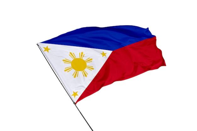 Philippinische flagge auf weißem hintergrund