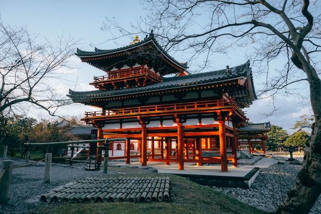 Phoenix hall gebäude in byodoin tempel, berühmten buddhistischen tempel in uji stadt, kyoto japan