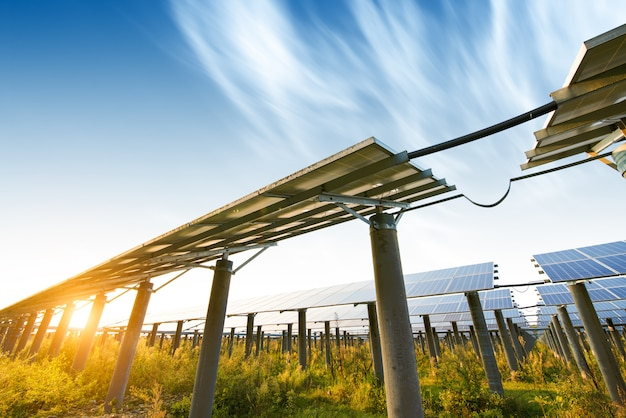 Photovoltaik-module für die stromerzeugung aus erneuerbaren energiequellen, navarra, aragonien, spanien.