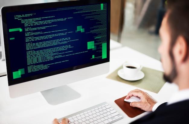 Php-programmierung html-codierung cyberspace-konzept
