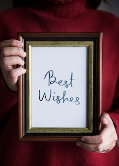 Phrase best wishes in einem frame
