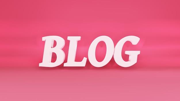 Phrase blog 3d-logo auf hintergrund mit schatten