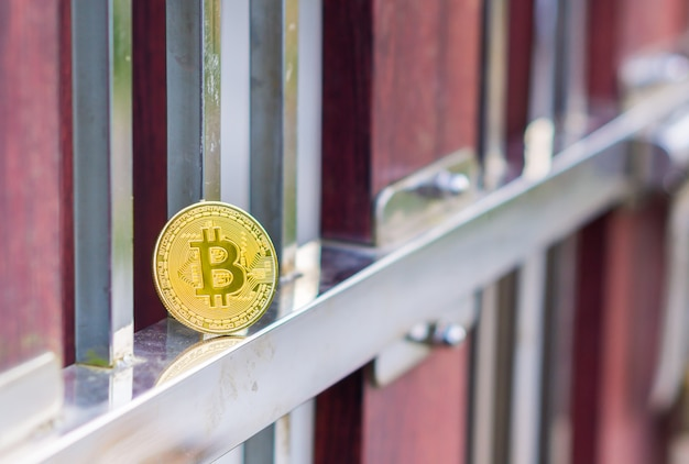 Physische gold-bitcoin-digitalwährung