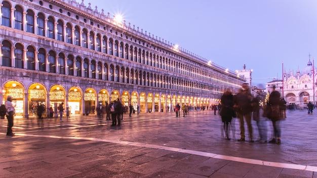 Piazza san marco, venedig bei nacht