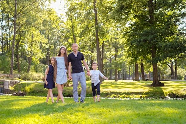 Picknick mit der familie