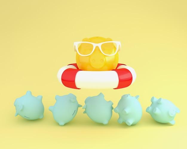 Piggy und sonnenbrille