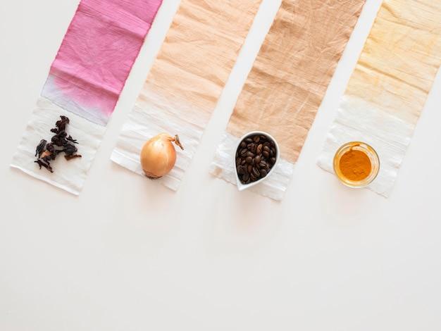 Pigmente aus natürlichen inhaltsstoffen mit kopierraum
