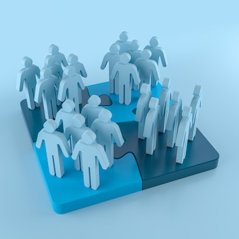 Piktogramm people network connections. 3d-rendering