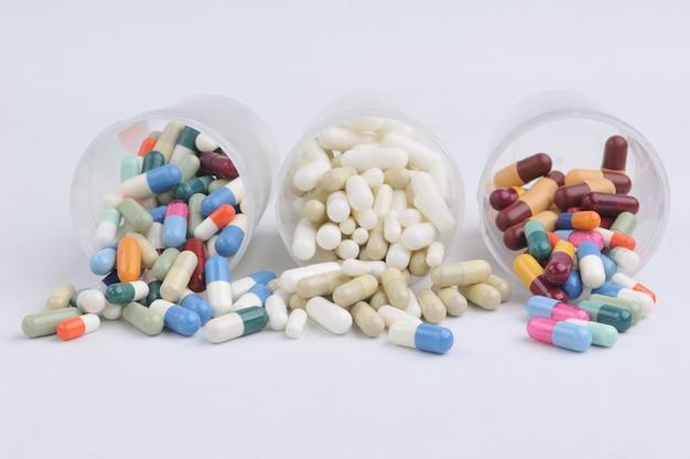 Pillen, kapseln und tabletten vielfalt